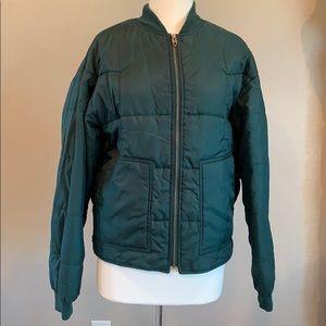 Vintage Green Gap Bomber Jacket